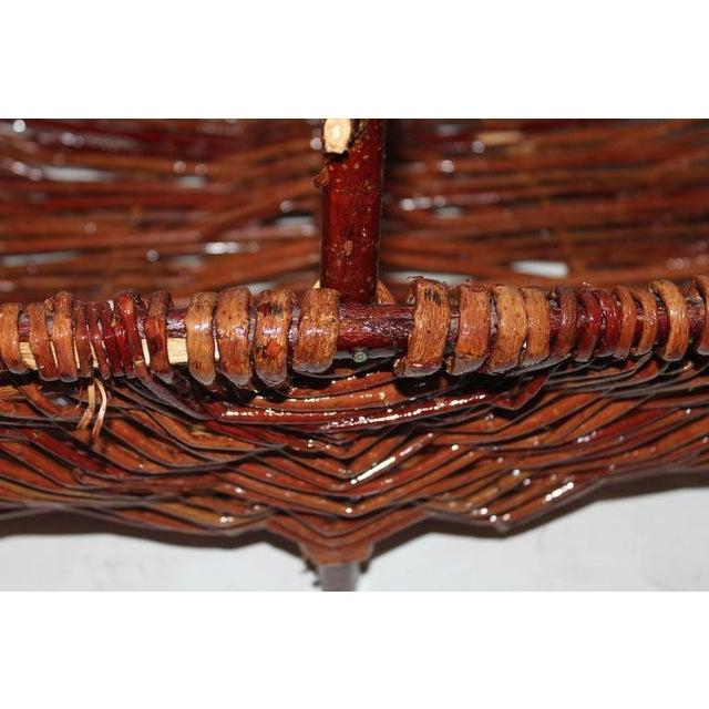 Monumental Hickory Gathering Basket - Image 3 of 6