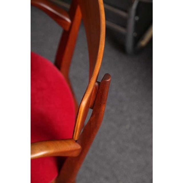 "Mid Century Modern 6 Drexel ""Declaration"" Line Walnut Dining Chairs. 1950s - Image 7 of 9"