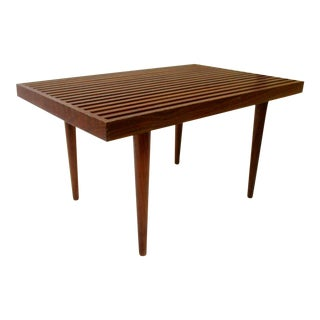 Mid-Century Modern Slat Bench Coffee Table