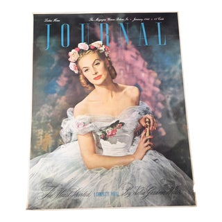 Vintage 1940's Ladies Home Journal Newsstand Poster