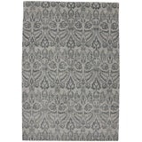 Image of New Modern Transitional Gray Ikat Area Rug - 9′9″ × 14′ For Sale