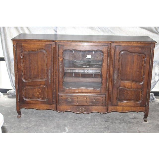 Wood 19th Century French Country Oak Dessert Buffet For Sale - Image 7 of 7