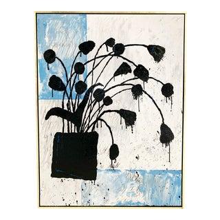 "John O'Hara. Botanical, 4. 37.25x49.25"" Encaustic Painting For Sale"
