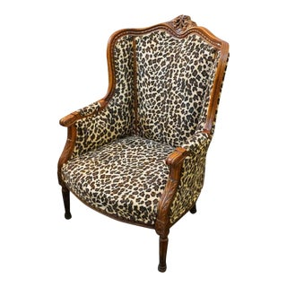 Vintage Upholstered Arm Chair For Sale