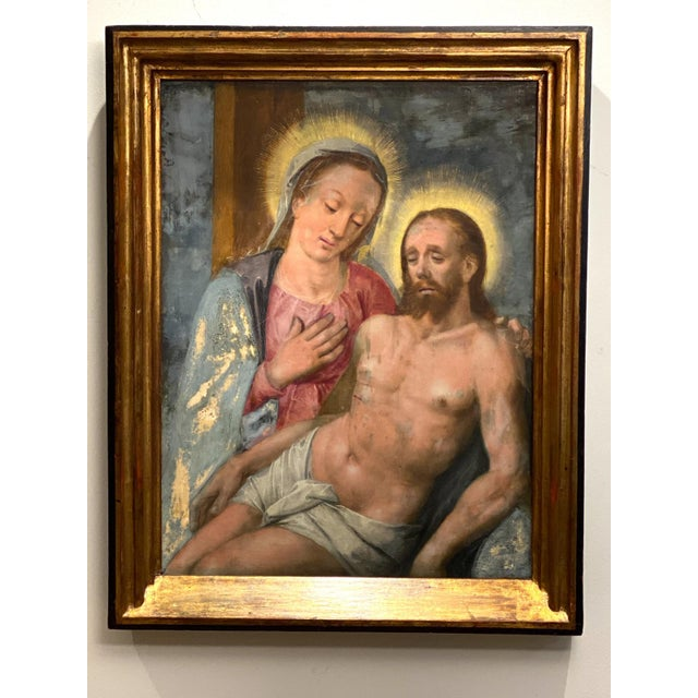 Oil on Board of Mary Magdalene and Jesus For Sale In San Francisco - Image 6 of 6