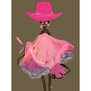 """Pink Cowgirl"" Limited Edition Print by Annie Naranian For Sale"