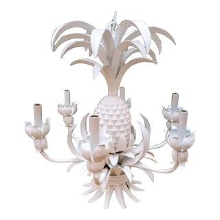 Palm Beach Regency White Pineapple 6 Light Chandelier Light
