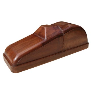 A Charming American Art Deco Solid Mahogany Car Mold For Sale