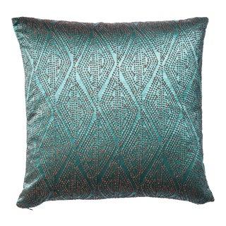 Jade Textured Silk Pillow