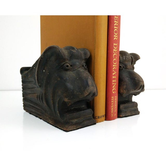 Vintage Architectural Wood Corbel Bookends - a Pair - Image 5 of 6
