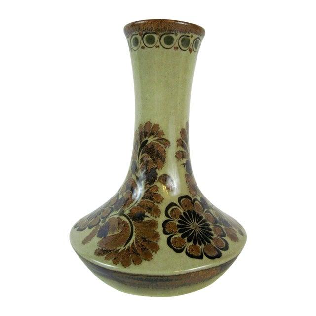 Brown Floral Vase by Carlos Villanueva Circa 1970s - Image 1 of 5
