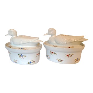Cordon Bleu Lidded Duck Casserole Baking Dishes - a Pair