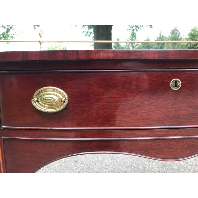 Traditional Cherry Side Board by Kindel For Sale - Image 10 of 11