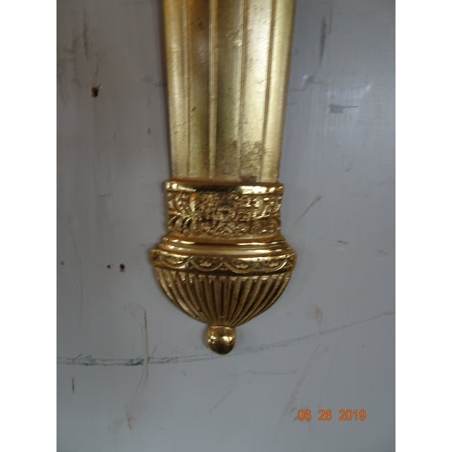 French Pair of 19th Century Bronze Sconces For Sale - Image 3 of 10