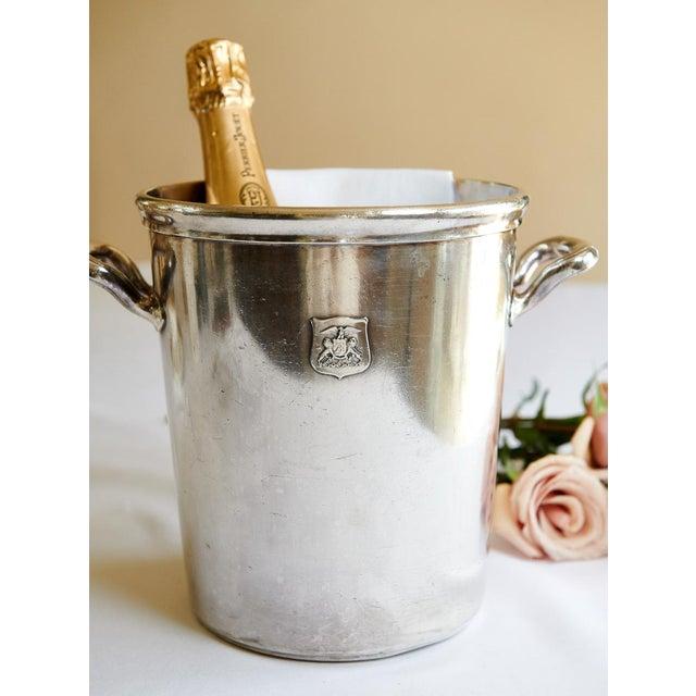 1920s Vintage Ambassador Hotel, Los Angeles Silver Plate Champagne Bucket For Sale - Image 5 of 9