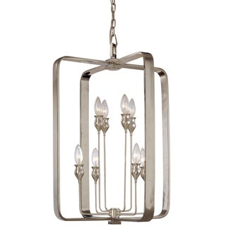 Contemporary Hudson Valley Lighting Rumsford 8 Light Nickel Silver Pendant Chandelier Preview