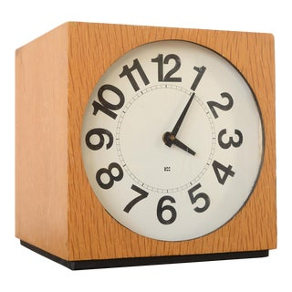 Vintage Danish Modern Washington Clock Works Cube Clock For Sale