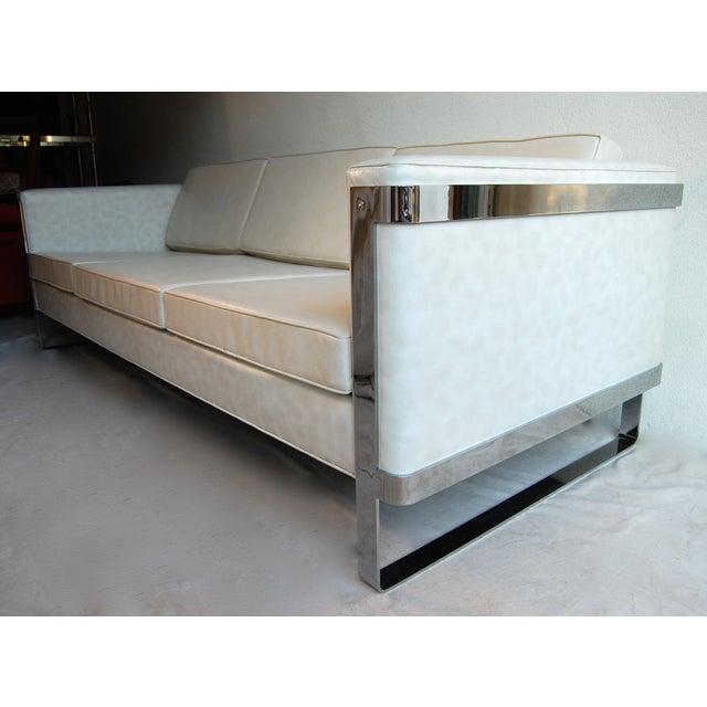 Milo Baughman Chrome Sofa - Image 3 of 6