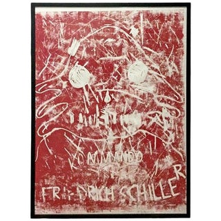 Contemporary Framed Linoleum Print Signed Dated Numbered Andre Butzer, 2000s For Sale