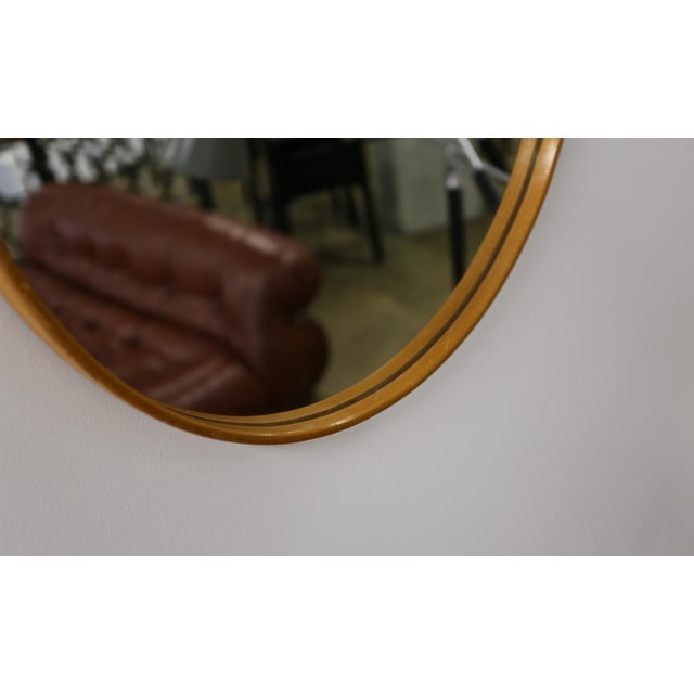 1955 Vintage Hans-Agne Jakobsson Wall Mirror For Sale In Los Angeles - Image 6 of 7