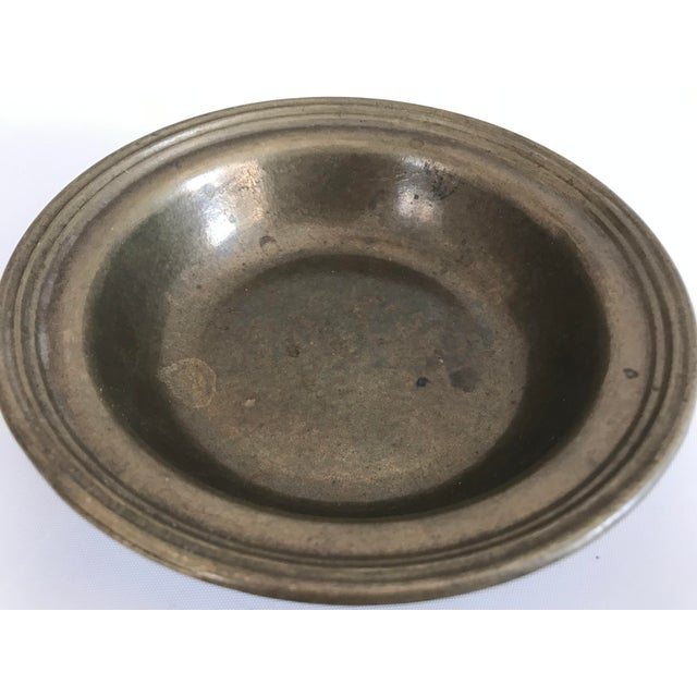 Antique Turkish Anatolian Brass Plate For Sale - Image 4 of 6