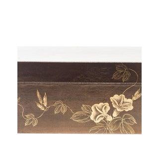 Lawrence & Scott Mahogany Valentine Leather Box For Sale