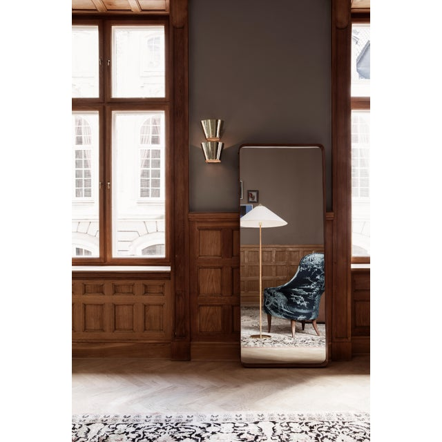 Contemporary Paavo Tynell Model 9602 Brass and Rattan Floor Lamp For Sale - Image 3 of 5