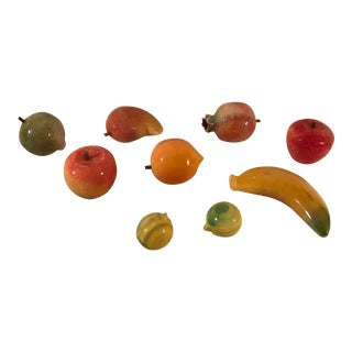 Mid-Century Marble Fruit - Set of 9 For Sale