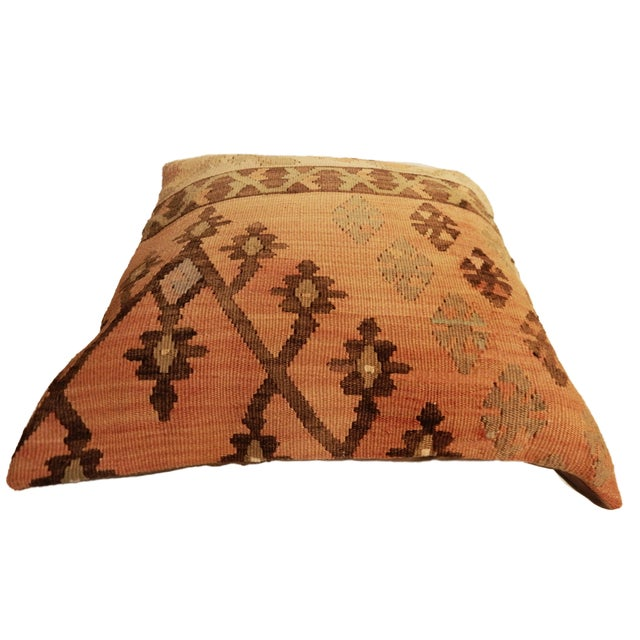 Old Turkish Tribal Kilim Pillow - Image 7 of 7