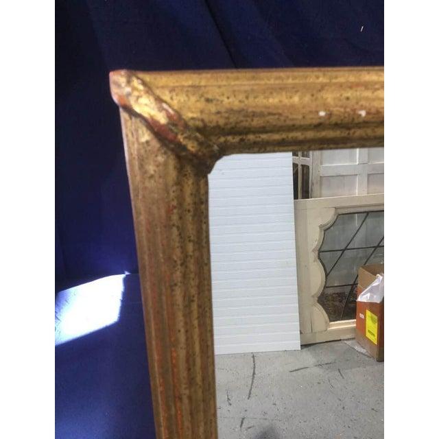 Gold 1950s Large Gold Leaf Framed Mirror For Sale - Image 8 of 13