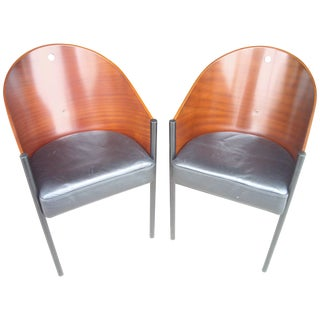 "1980s Philippe Starck ""Costes"" Side Chairs - A Pair For Sale"