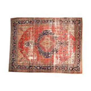 """Antique Farahan Carpet - 10'11"""" X 14'1"""" For Sale"""