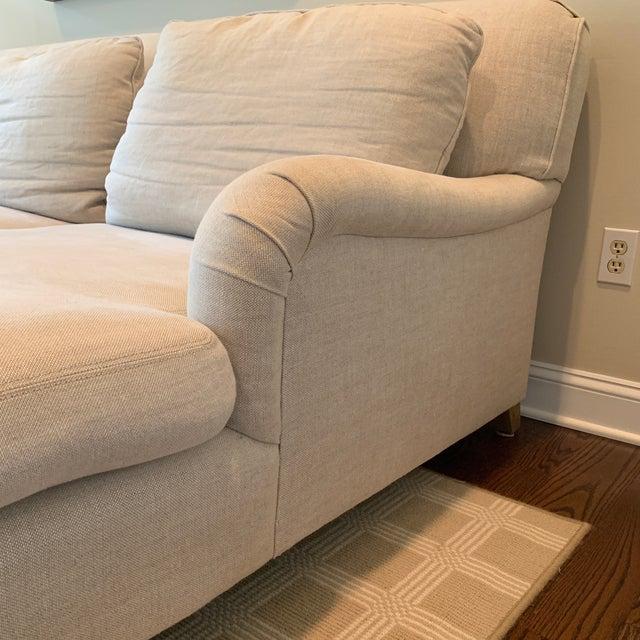 Restoration Hardware Modern Linen Sectional Sofa