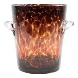 Image of Empoli for Christian Dior Tortoise Glass Champagne Wine Cooler Ice Bucket For Sale