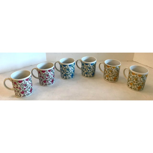 Vintage Japanese Ceramic Tea or Coffee Mugs - Set of 6 For Sale In Dallas - Image 6 of 12