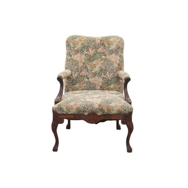 Louis XV Style Jungle Fauteuil and Ottoman - Image 2 of 9
