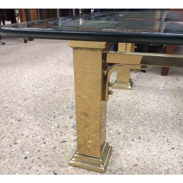 1960s Art Deco Style Solid Brass Coffee Table For Sale In Chicago - Image 6 of 7