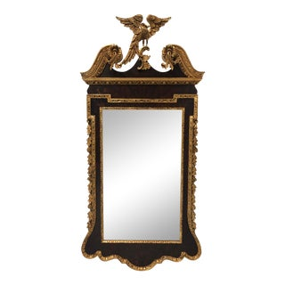 Labarge Federal Style Mahogany & Gold Gilt Beveled Eagle Mirror For Sale