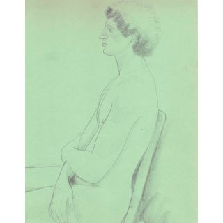Seated Male Nude by James Bone 1970s For Sale