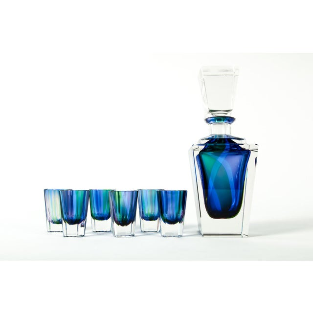 Vintage cut crystal liqueur decanter set. This set is just exquisitely beautiful and would bring a great addition to any...