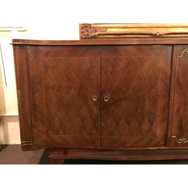 Art Deco 1930s Vintage Palatial Art Deco Gaessiar Ebenistes French Sideboard For Sale - Image 3 of 10