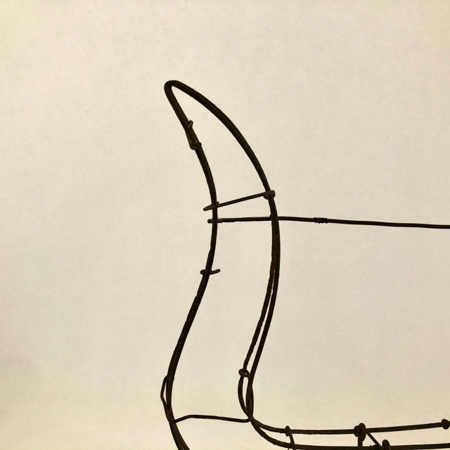 Metal 1950s Vintage Wire Topiary in the Shape of a Lyre For Sale - Image 7 of 13