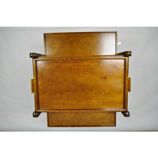 The Bombay Company Modern Rolling Folding Bar Cart For Sale - Image 9 of 13