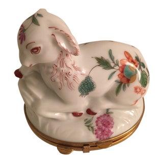 Vintage Porcelaine De Paris Goat For Sale
