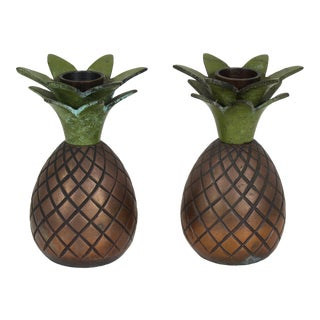 Copper Pineapple Candle Holders, Candle Holder, Pineapple Candle Holder For Sale