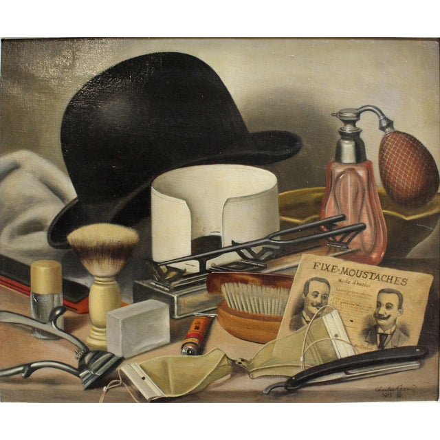 Traditional Men's Grooming Still Life by Charles Cerny For Sale - Image 3 of 6