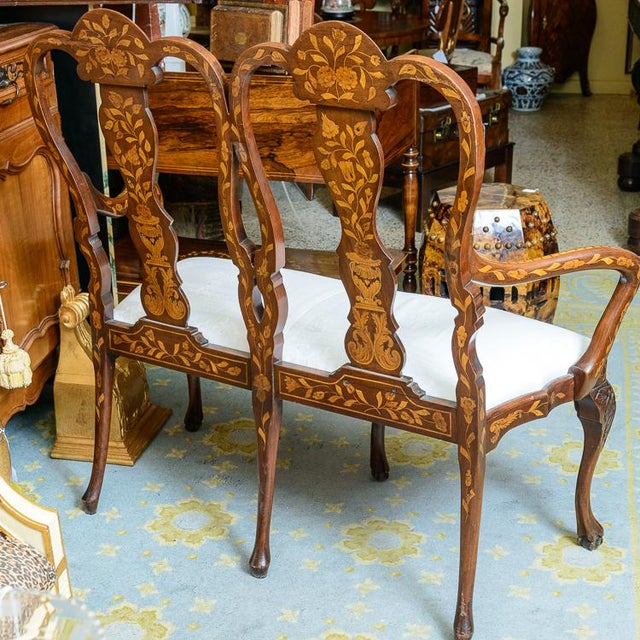 Late 19th C. Dutch Settee For Sale - Image 4 of 11