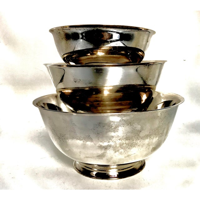Silver Plate Paul Revere Bowls - Set of 3 - Image 5 of 10