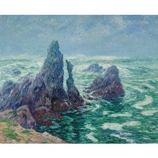 Les Aiguilles Du Port-Coton à Belle-île by Henry Moret