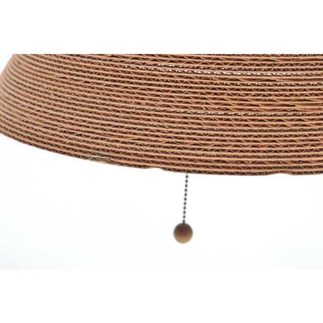 Gregory Van Pelt Corragated Cardboard Hanging Light For Sale - Image 4 of 9